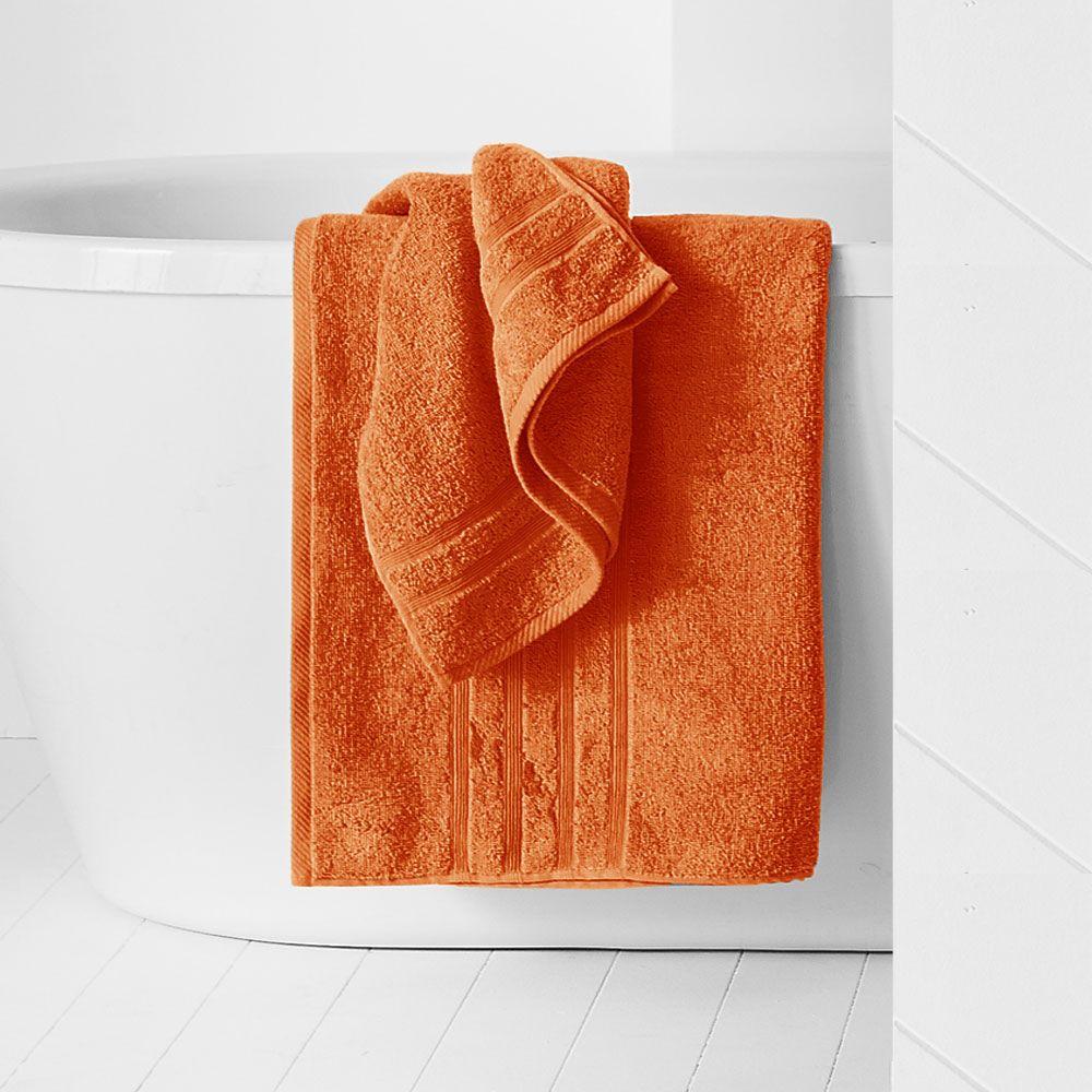Drap de douche - 500 gr/m² - 70 x 130 cm - Today : Couleur:Mandarine