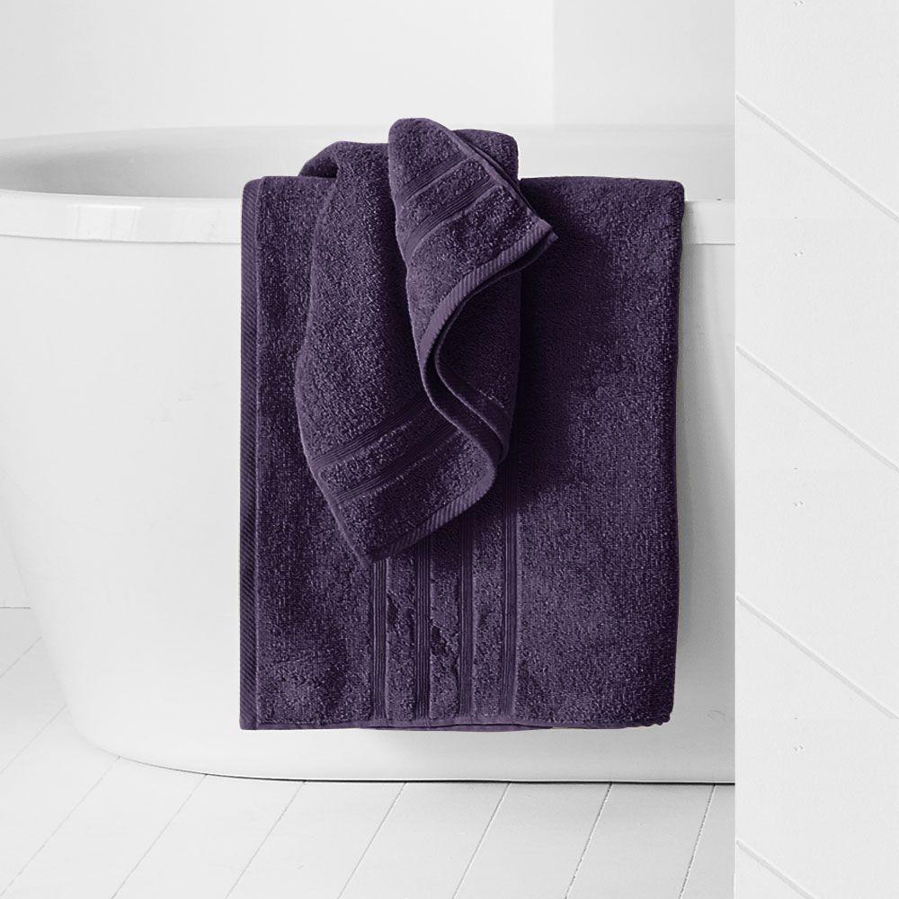 Maxi drap de bain - 500 gr/m² - 90 x 150 cm - Today : Couleur:Deep purple