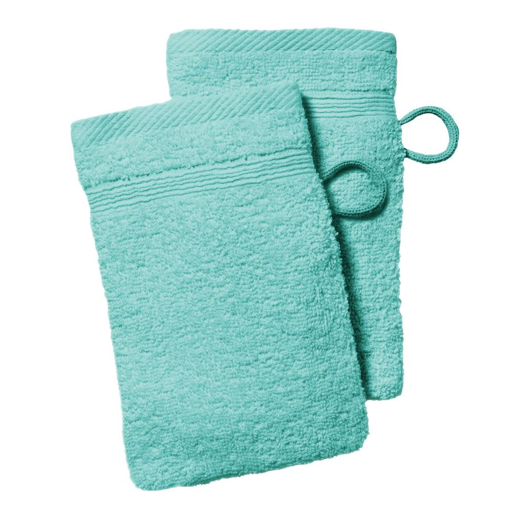 lot de 2 gants de toilette - 500 gr/m² - 16 x 21 cm - Today : Couleur:Portofino