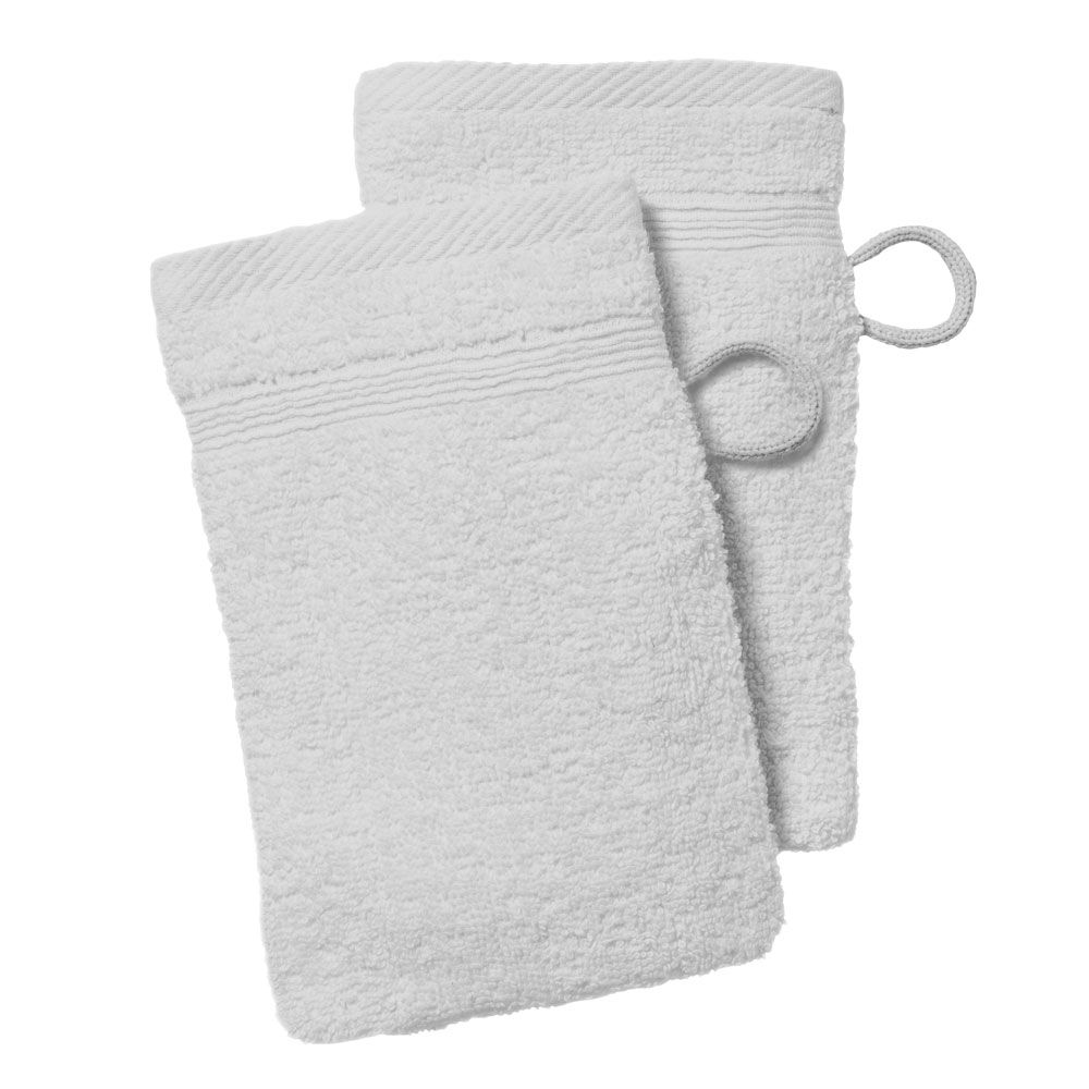 lot de 2 gants de toilette - 500 gr/m² - 16 x 21 cm - Today : Couleur:Chantilly
