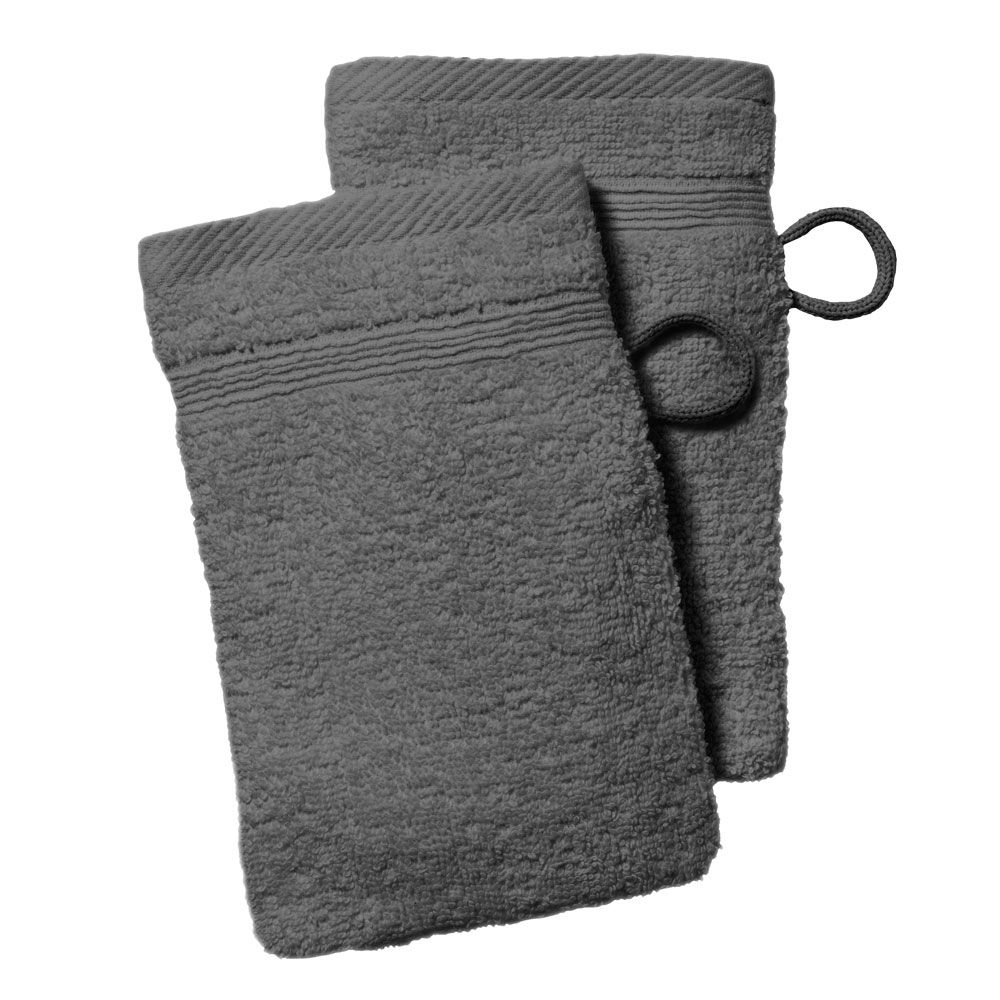 lot de 2 gants de toilette - 500 gr/m² - 16 x 21 cm - Today : Couleur:Canon de fusil