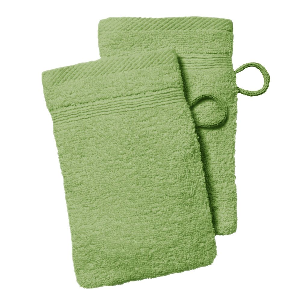 lot de 2 gants de toilette - 500 gr/m² - 16 x 21 cm - Today : Couleur:Bambou