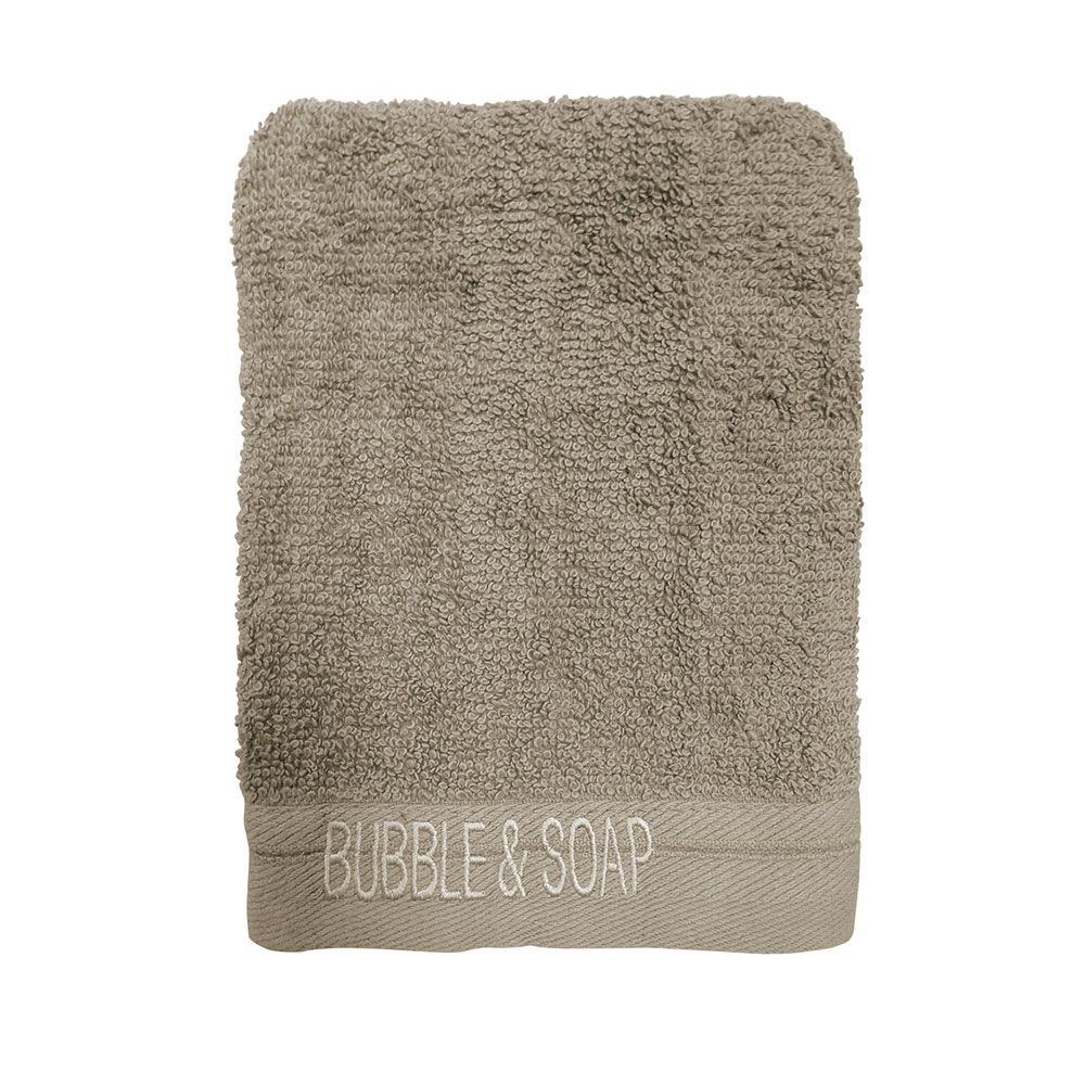 Ligne de bain brodé intemporel - Lot de 2 gants de toilette - 16 x 21 cm : Couleur today:mastic
