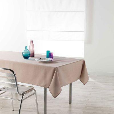 Nappe rectangle - 140 x 250 cm - Chambray enduit - Newton - Différents coloris