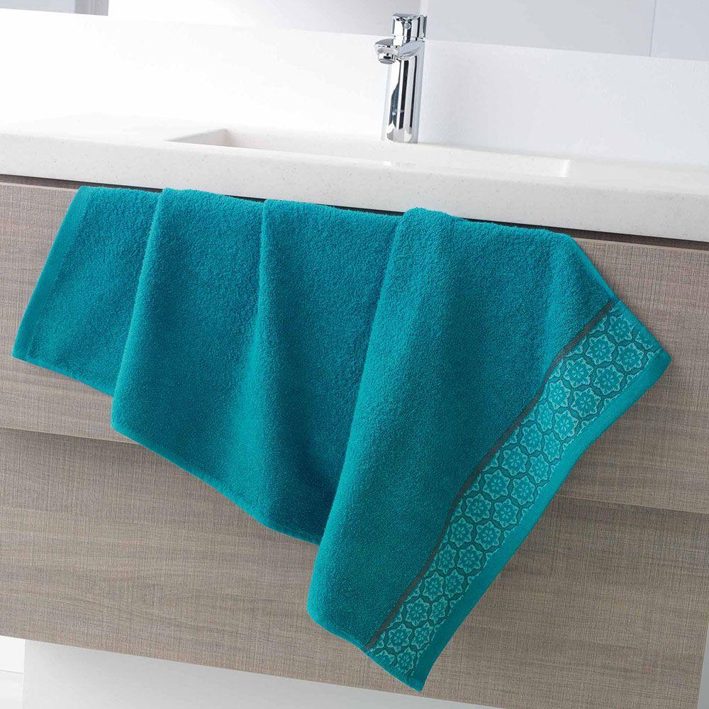 Serviette de toilette - 50 x 90 - Éponge - Adélie - Différents coloris : Couleur:Bleu