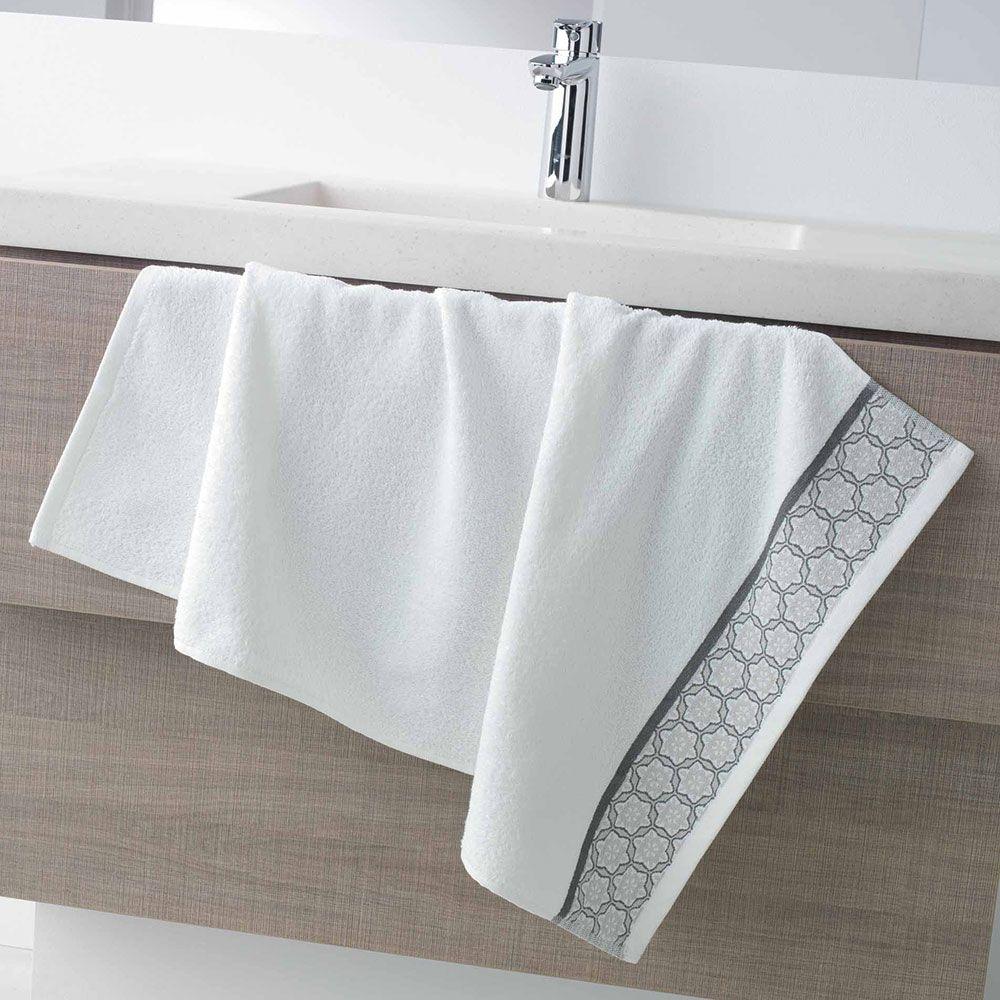 Serviette de toilette - 50 x 90 - Éponge - Adélie - Différents coloris : Couleur:Blanc