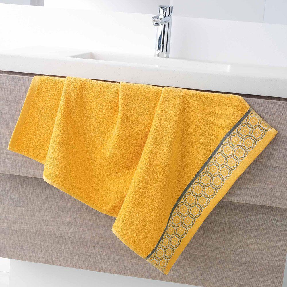 Serviette de toilette - 50 x 90 - Éponge - Adélie - Différents coloris : Couleur:Miel