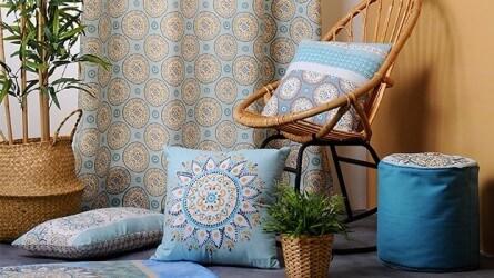 Déco salon ▷ Pouf, coussin et tapis de qualité et pas cher