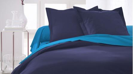 Linge de lit uni ▷ Parures de lit unies et colorées en coton et jersey