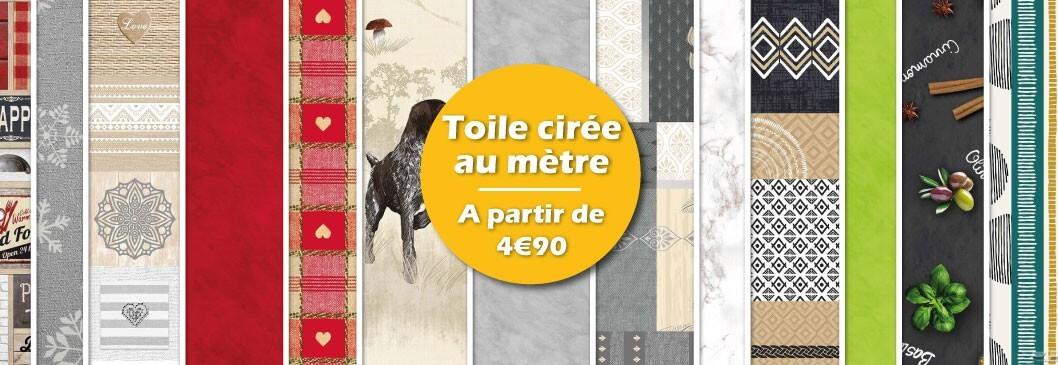 Toile cirée 4€90 le mètre