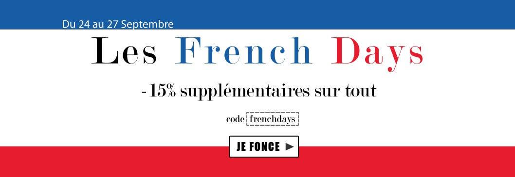 French days : -15% sur tout